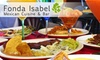 Fonda Isabel - York: $15 for $35 Worth of Fine Mexican Fare, Margaritas, and More at Fonda Isabel in Lombard