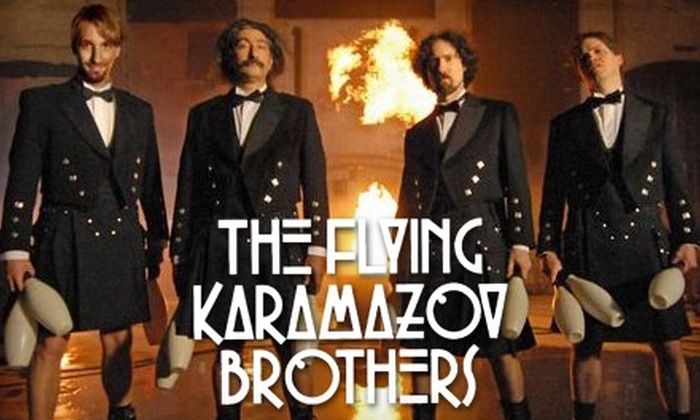 "The Flying Karamazov Brothers - Greenwich Village: $32 for One Main Orchestra Ticket to ""The Flying Karamazov Brothers"" at the Minetta Lane Theatre in Greenwich Village (a $65 Value)"