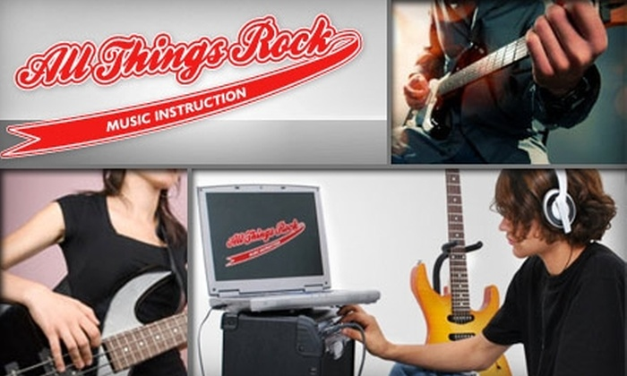 All Things Rock - Providence: $49 for Six Group Singing or Instrument Lessons at All Things Rock ($180 Value)