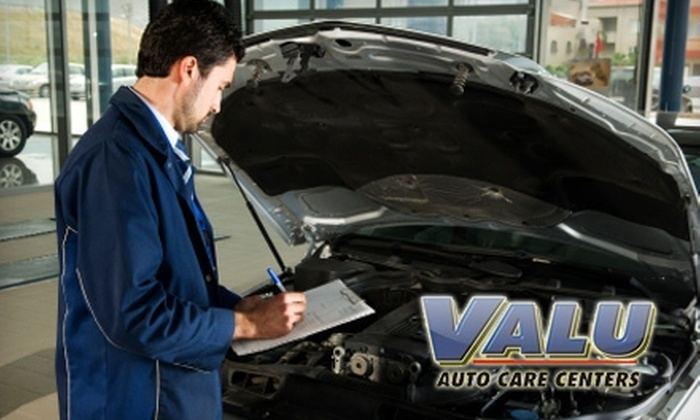 Valu Auto Care - Cutler Bay: $15 for a Full-Service Oil Change ($40 value) or $40 for a Wheel Alignment ($90 value) at Valu Auto Care