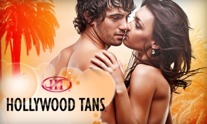 Hollywood Tans - Multiple Locations: $39 for a Month of Unlimited Tanning or Three Spray Tans at Hollywood Tans (Up to $110 Value)
