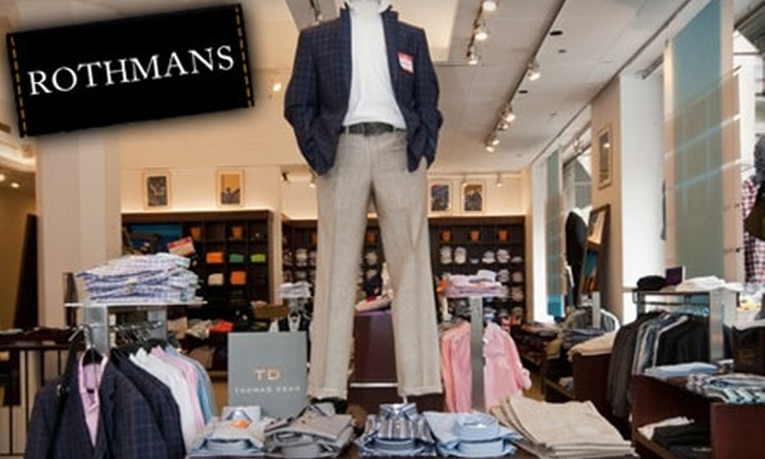 Rothman's - Scarsdale: $50 for $125 Worth of Men's Clothing at Rothman's