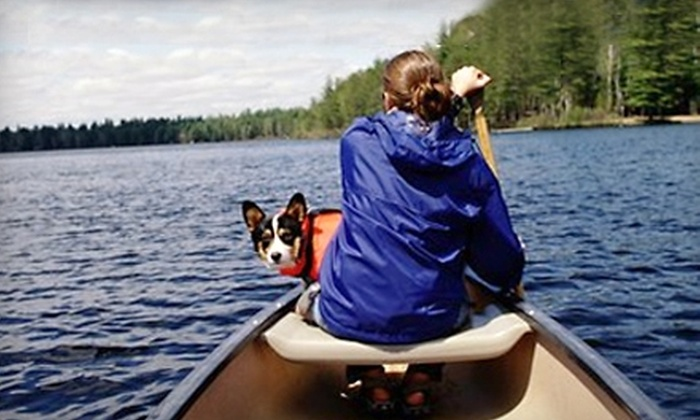 Saco Canoe Rental Company - Conway: Two-Seat Canoe Rental with Shuttle Service from Saco Canoe Rental Company in Conway. Two Options Available.