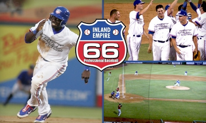 Inland Empire 66ers Baseball Club - Downtown San Bernardino: $15 for Four Executive Box-Seat Tickets to Inland Empire 66ers Baseball ($40 Value)