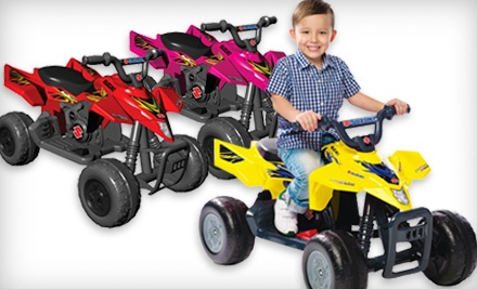 Red Suzuki QuadRacer R450 with 6-Volt Battery and Charger (a $180 value) - Children's Suzuki QuadRacer in