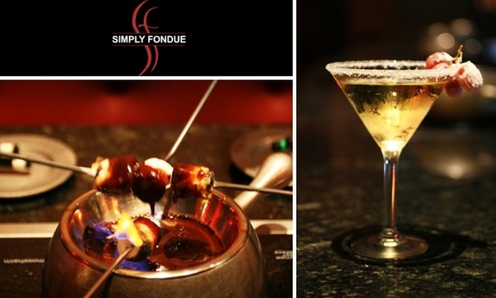 Simply Fondue - Great Neck Plaza: $25 for $50 Worth of Dippables, Entrees, and Drinks at Simply Fondue
