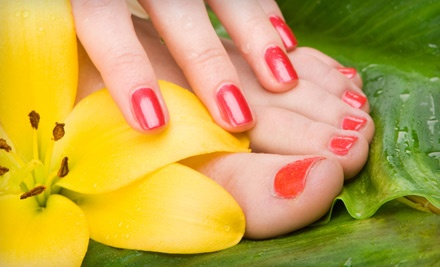 1 Regular Manicure and Spa Pedicure (a $60 value) - Merle Norman Cosmetics and More in Troy