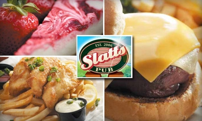 Slatts Pub - Blue Ash: $12 for $30 Worth of Pub Eats and Drinks at Slatts Pub