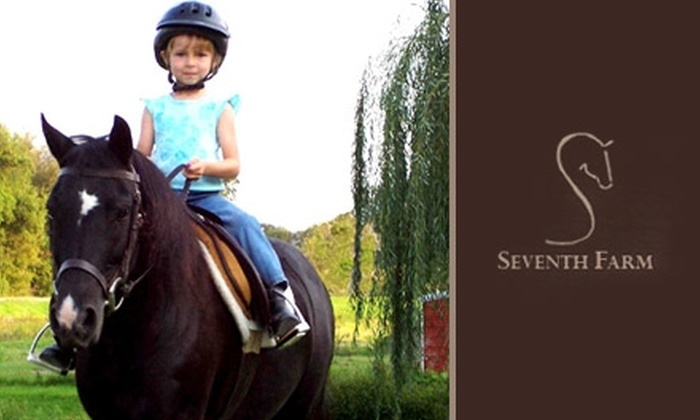 Seventh Farm - Troy: $150 for a Four-Week Intro Horse-Riding Course at Seventh Farm ($360 Value)
