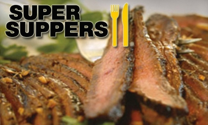 Super Suppers - Concord: $25 for Three Prepared Gourmet Dinners at Super Suppers in Concord (Up to $53.85 Value)