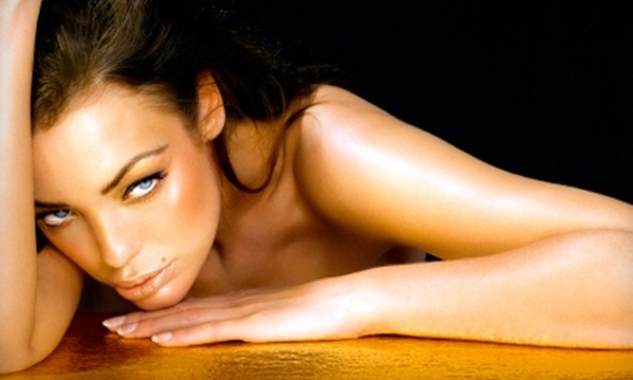 The Tanning Spa - Multiple Locations: $25 for Three Mystic Spray Tans, One-Month of Unlimited Tanning, or One Custom Airbrush Tan at The Tanning Spa (Up to $199 Value)