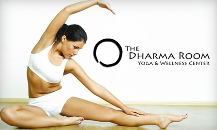 The Dharma Room - Downtown: $30 for Four Yoga Classes at The Dharma Room