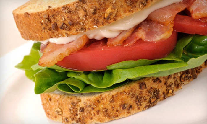 Manny's Food Mart - Nonantum: Sandwiches, Salads, and Artisan Pizzas from Manny's Food Mart in Newton (Half Off). Two Options Available.