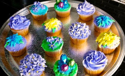 Crystalized Cupcakes: 1 Dozen Mini Cupcakes - Crystalized Cupcakes in