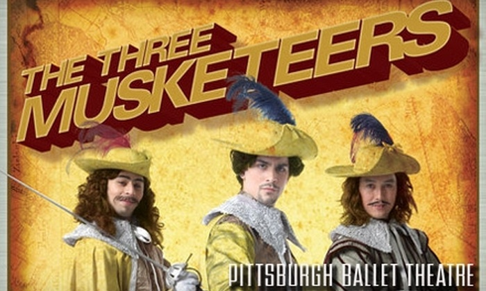 "Pittsburgh Ballet Theatre - Downtown: One Ticket to ""The Three Musketeers"" Performed by Pittsburgh Ballet Theatre, October 22–24. Choose from Three Seating Options."