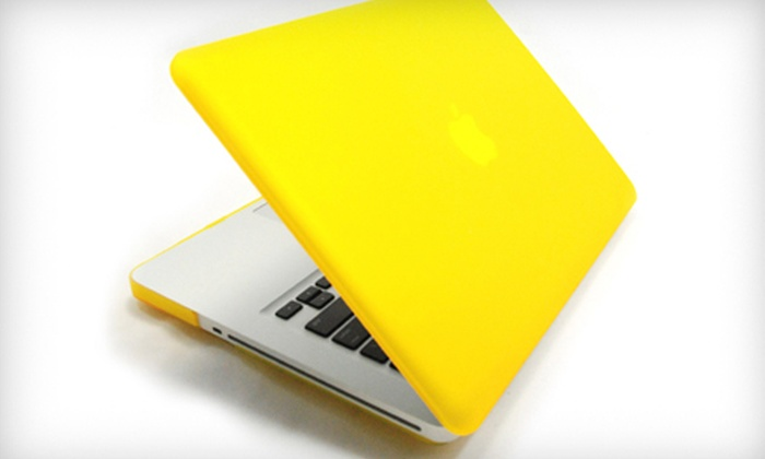 """MacBook Case: $19 for a MacBook Pro Rubber Case for 13"""" MacBook Pro in Black, Blue, Pink, Purple, or Yellow ($43.33 Value)"""