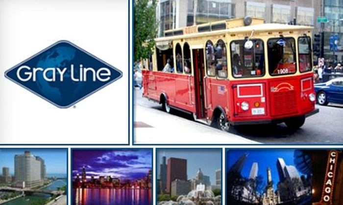 Gray Line Chicago - Multiple Locations: $16 Ticket for a Hop On Hop Off Trolley Tour of Chicago from Gray Line ($30 Value)