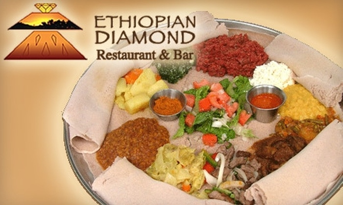 Ethiopian Diamond Restaurant - Multiple Locations: $20 for $40 Worth of Fare at Ethiopian Diamond Restaurant