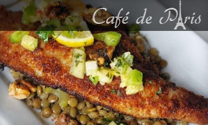 Café De Paris - Southside: $20 for $40 Worth of Fine French Cuisine at Café de Paris