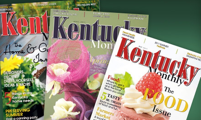 """""""Kentucky Monthly"""" - Wabash - Goodrich: $10 for a One-Year Subscription to """"Kentucky Monthly"""" Magazine ($20 Value)"""
