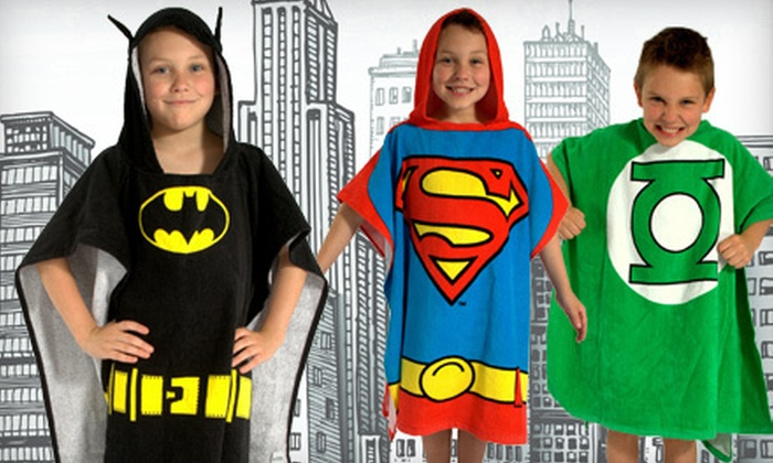 $19 for a DC Comics Originals Batman, Superman, or Green Lantern Bath Wrap Poncho for Boys or Toddlers. Shipping Included ($40 Value).