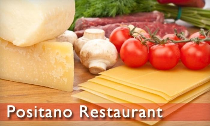 Positano Ristorante Italiano  - Bethesda: $15 for $30 Worth of Italian Cuisine at Positano Ristorante Italiano in Bethesda