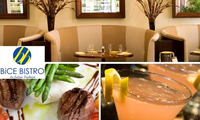 BiCE Bistro - El Mirage: $15 for $30 Worth of Italian Cuisine and Drinks at BiCE Bistro