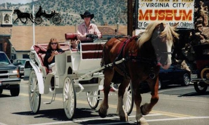Happy Hoofers Carriage Services - Virginia City: $40 for Four Tickets to Horse-Drawn Carriage Tour from Happy Hoofers Carriage Service in Virginia City ($80 Value)