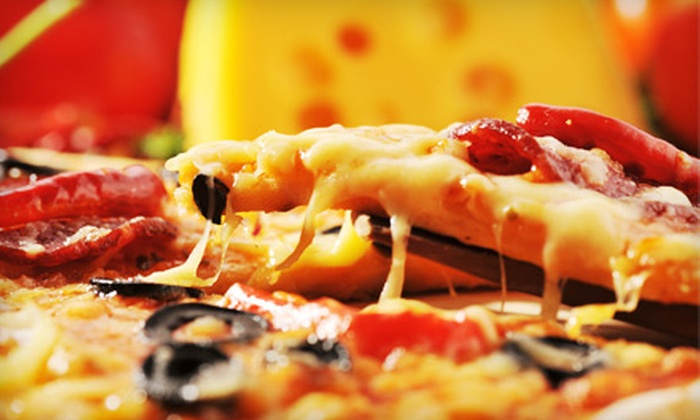Bob's Haven Deli - Phoenixville: $17 for Pizza Package Including Two Large Two-Topping Pizzas, Side Dish, Soda, and Delivery from Bob's Haven Deli in Phoenixville (Up to $35.17 Value).