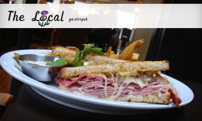 The Local Gastropub - City Center: $12 for $25 Worth of Gourmet Pub Fare and Drinks at The Local Gastropub