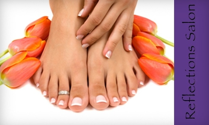 Reflections Salon and Spa - East Central: $25 for Shellac Mani-Pedi at Reflections Salon and Spa (Up to $60 Value)