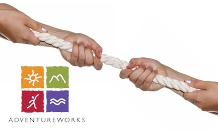 Adventureworks - Multiple Locations: $75 for a Two-Person Ropes Course at Adventureworks($130 Value)