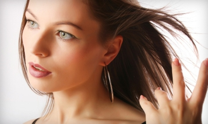 m. hair studio - Inglewood: $59 for Keratin Hair Treatment, Haircut, Style, and Eyebrow Shaping at m. hair studio