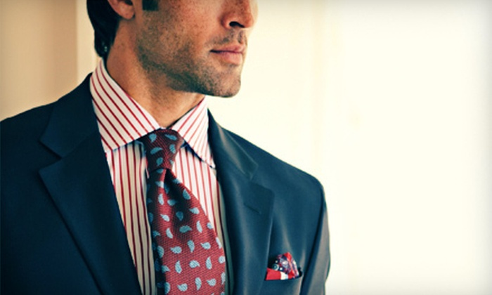 Peter's Clothiers - Nall Hills,Brookridge: $349 for Three Custom-Made Shirts and Three Luca di Marco Ties from Peter's Clothiers in Overland Park ($1,110 Value)