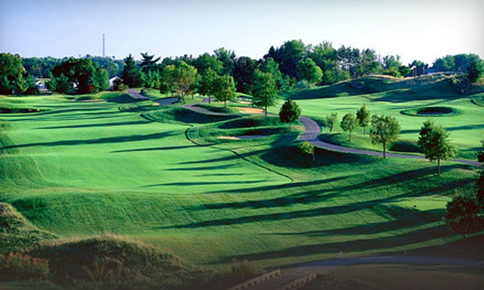 EagleSticks Golf Club - Springfield: Golf Outing with Cart and American Fare for Two or Four at EagleSticks Golf Club in Zanesville (Up to 62% Off)