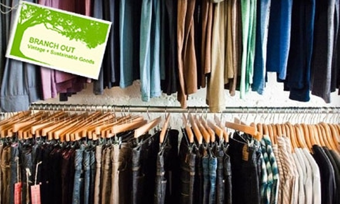Branch Out - Lower Garden District: $20 for $40 Worth of Eco-Friendly Designer Apparel at Branch Out