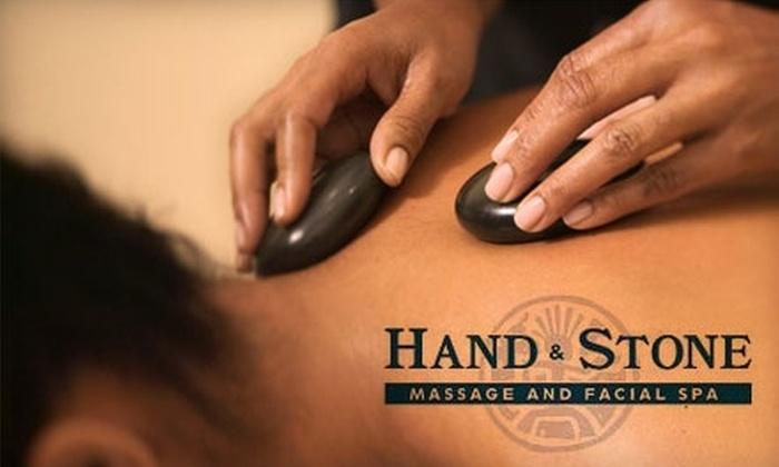 Hand & Stone Massage and Facial Spa - Sedalia: $35 for a 50-Minute Hot-Stone Massage at Hand & Stone Massage and Facial Spa (Up to $89.95 Value)