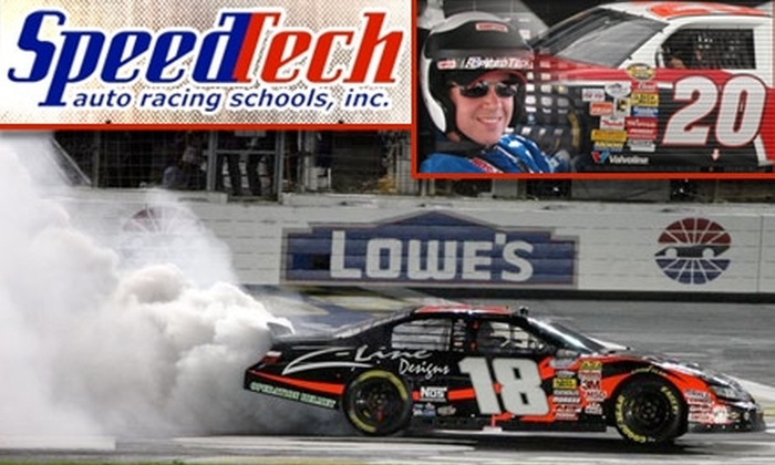 SpeedTech Auto Racing Schools - Charlotte Motor Speedway: $160 for Eight Laps in a NASCAR Nextel Cup Car at Lowes Motor Speedway ($399 Value)