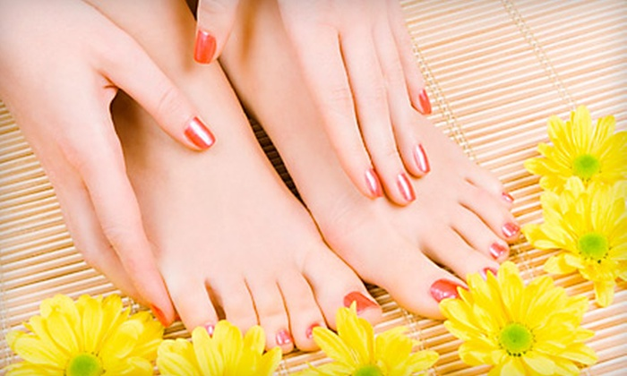 Cherita Irving - Hanestown: $25 for a Manicure and Pedicure at Thurston House Salon & Day Spa in Winston-Salem