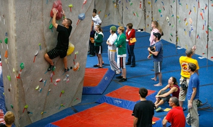 Climb Iowa - Grimes: $10 for a Day Climbing Pass and Gear ($22 Value) or $20 for an Intro to Climbing Class ($35 Value) at Climb Iowa