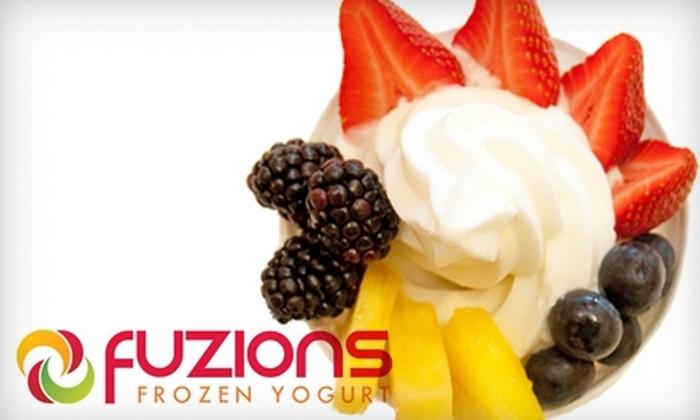 Fuzions Frozen Yogurt - Multiple Locations: $5 for $10 Worth of Self-Serve Yogurt and Toppings at Fuzions Frozen Yogurt