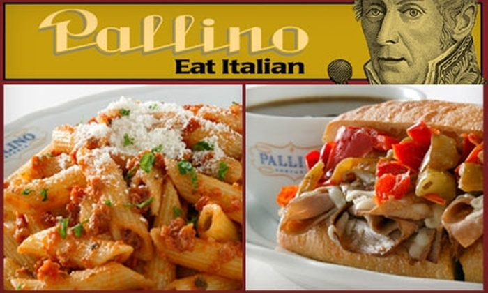 Pallino - Multiple Locations: $10 for $21 Worth of Italian Cuisine and Drinks at Pallino Pastaria Company