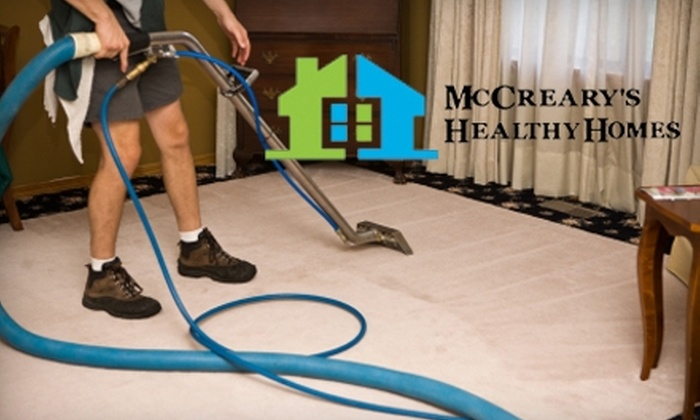 McCreary's Healthy Homes - Lansing: $59 for Two Rooms of Carpet Cleaning and Two Rooms of Scotchgard or Deodorizer from McCreary's Healthy Homes (Up to $171 Value)