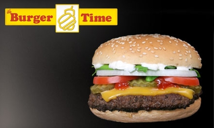 It's Burger Time - Multiple Locations: $5 for $10 Worth of Burgers and Drinks at It's Burger Time