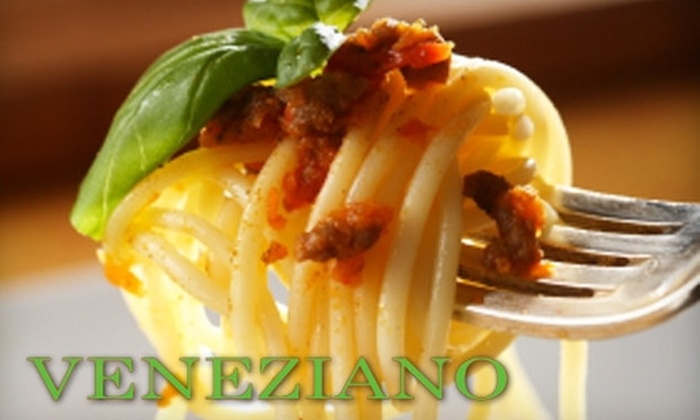 Veneziano Italian Restaurant - Colonial Place/Riverview: $15 for $30 Worth of Fresh Italian Fare at Veneziano Italian Restaurant