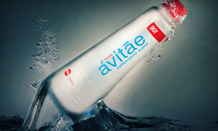 ávitāe: One or Two 24-Bottle Cases of Caffeinated Water from ávitāe  (Up to 58% Off)