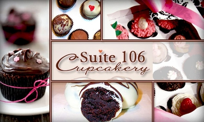 Suite 106 Cupcakery - Los Angeles: $15 for $30 Worth of Artisan Cupcake Cups or Truffles from Suite 106 Cupcakery