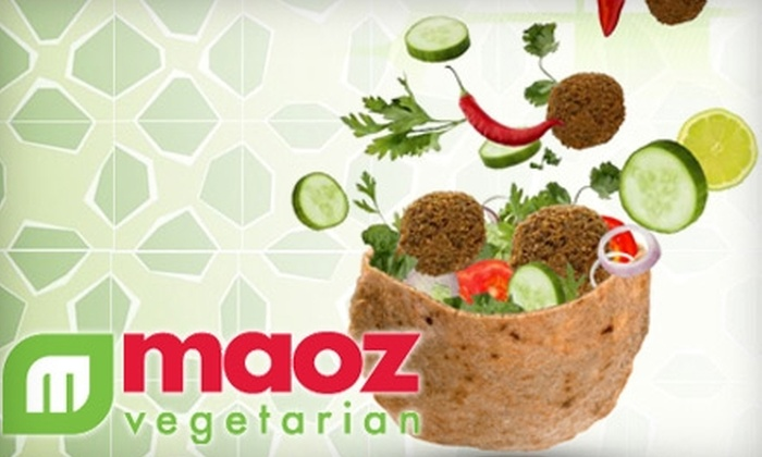 Maoz Vegetarian - Multiple Locations: $3 for $6 Worth of Fresh Fare and Drinks at Maoz Vegetarian