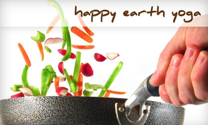 Happy Earth Yoga - Gaithersburg: $37 for a Veggie Cooking Lesson from Happy Earth Yoga