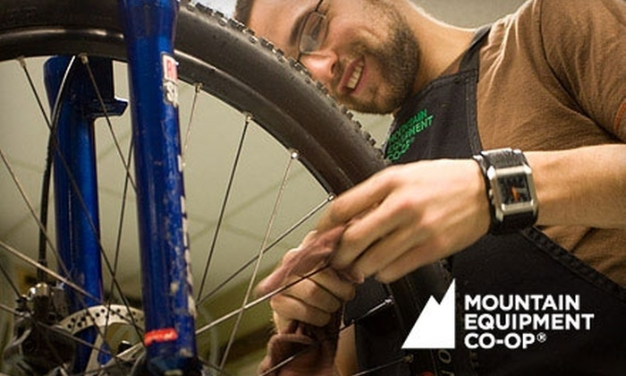 Mountain Equipment Co-Op Vancouver - Mt. Pleasant: Basic or Advanced Bike Tune-Up at Mountain Equipment Co-op. Choose Between Two Options.